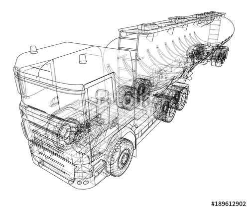 500x420 Oil Truck Sketch Illustration Stock Image And Royalty Free Vector