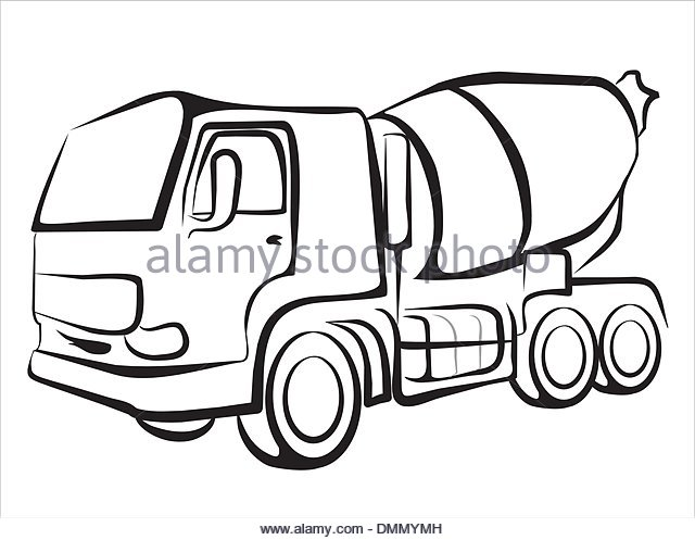 640x497 Outline Of Concrete Mixer Truck Stock Photos Amp Outline Of Concrete