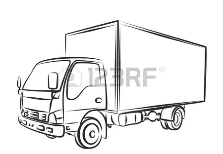450x312 Sketch Of Heavy Dump Truck. Royalty Free Cliparts, Vectors,
