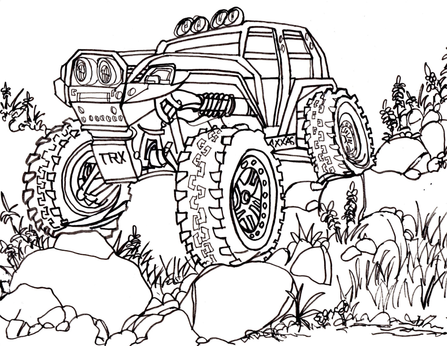 1500x1159 Traxxas Summit Trail Truck Drawing 4x4 Rc Crawler