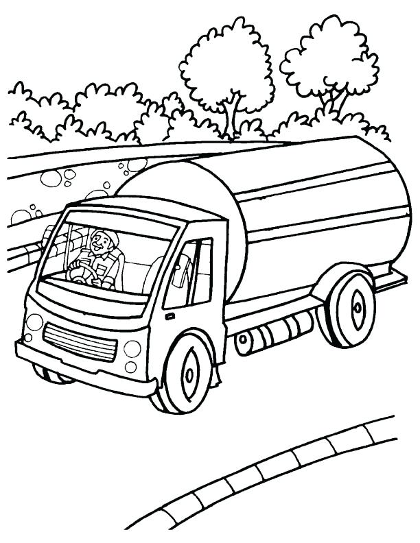 612x792 Truck And Trailer Coloring Pages Semi Truck Drawing Coloring Page