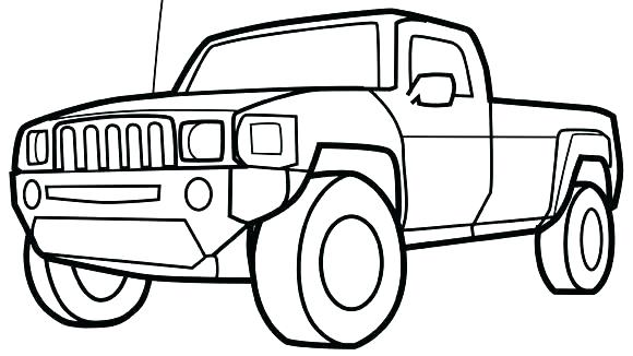 Truck Line Drawing at GetDrawings | Free download