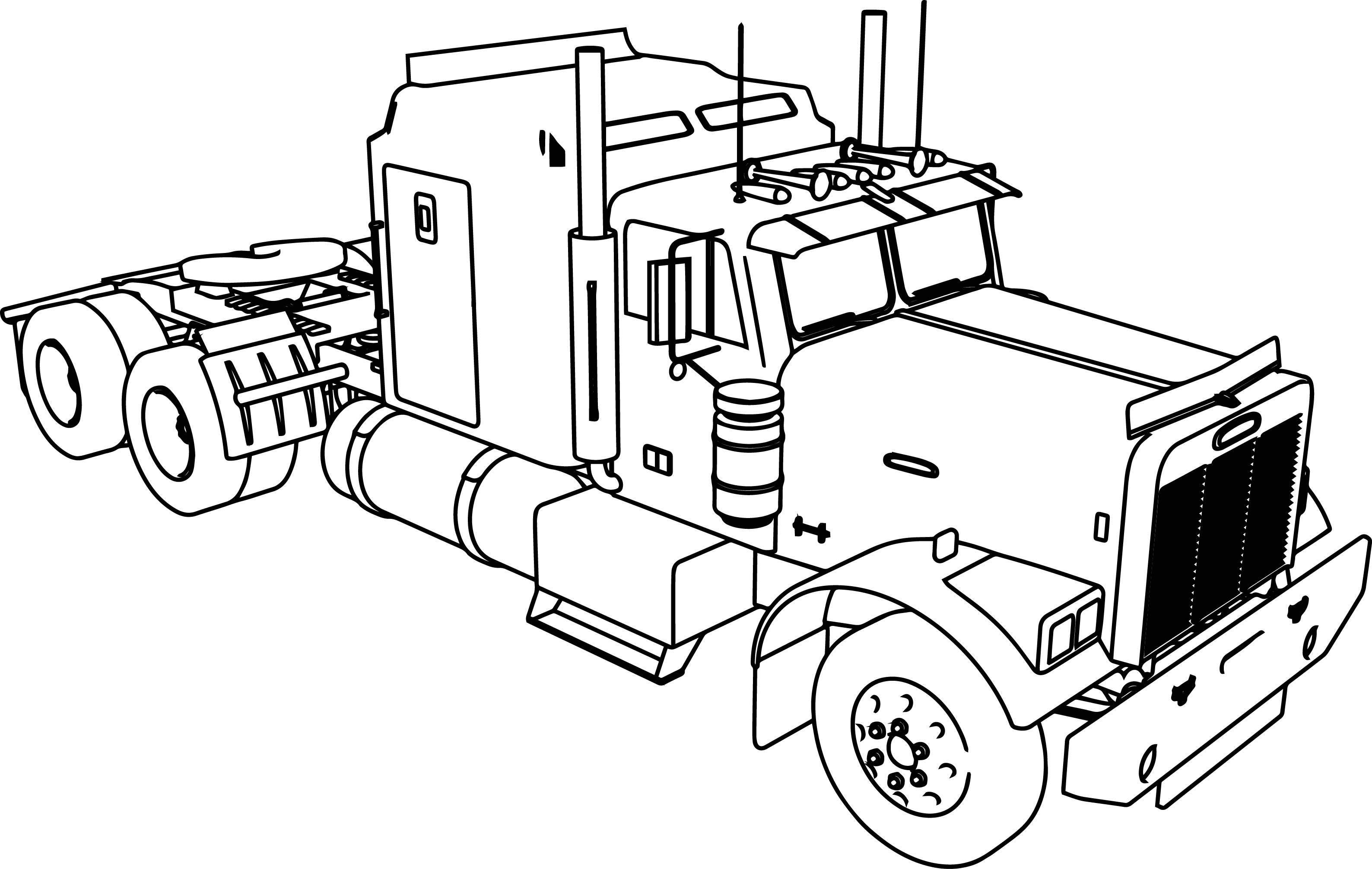 3176x2013 Amazing Semi Truck Coloring Pages 50 About Remodel Line Drawings