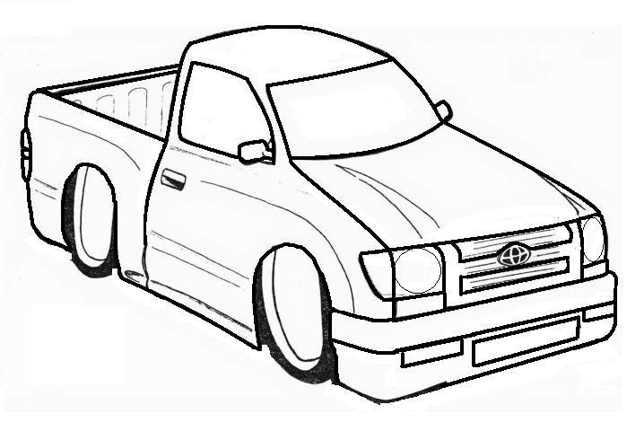 718x490 Toyota Tacoma Drawing Toyota Tacoma Driving On Smaller Spare
