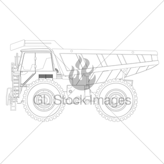 325x325 Yellow Mining Dump Truck Gl Stock Images