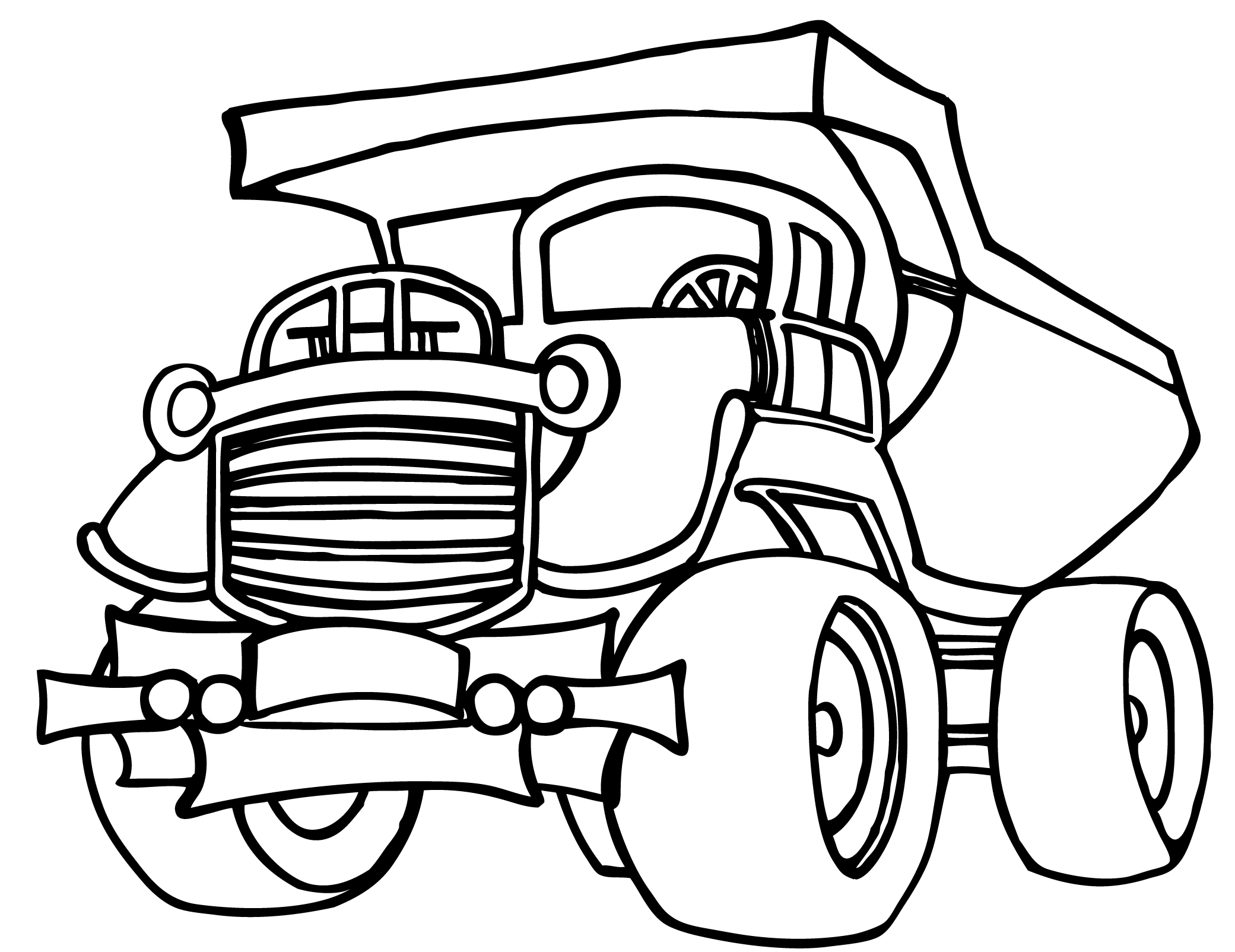 Truck Line Drawing At Getdrawings Com Free For Personal Use Truck
