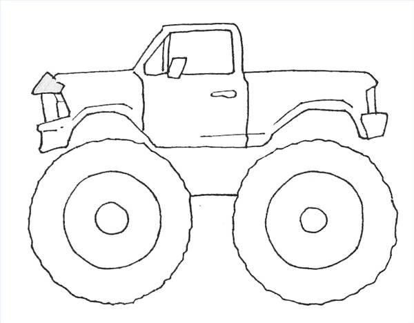 600x468 Coloring Pages Monster Truck Drawings Line Coloring Pages