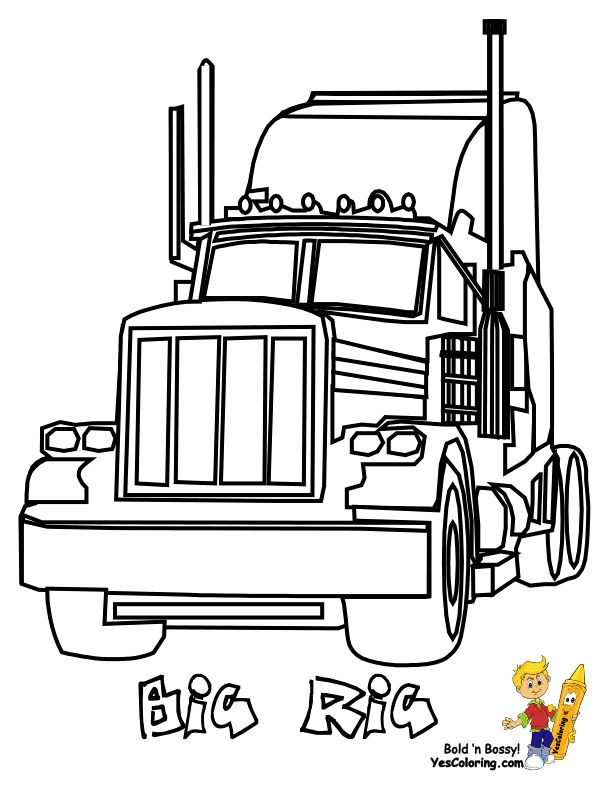 612x792 18 Wheeler Diesel Coloring Pictures Of Trucks You Can Print Out