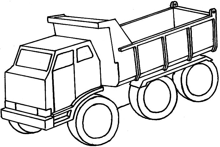 720x480 Dump Truck Coloring Pages