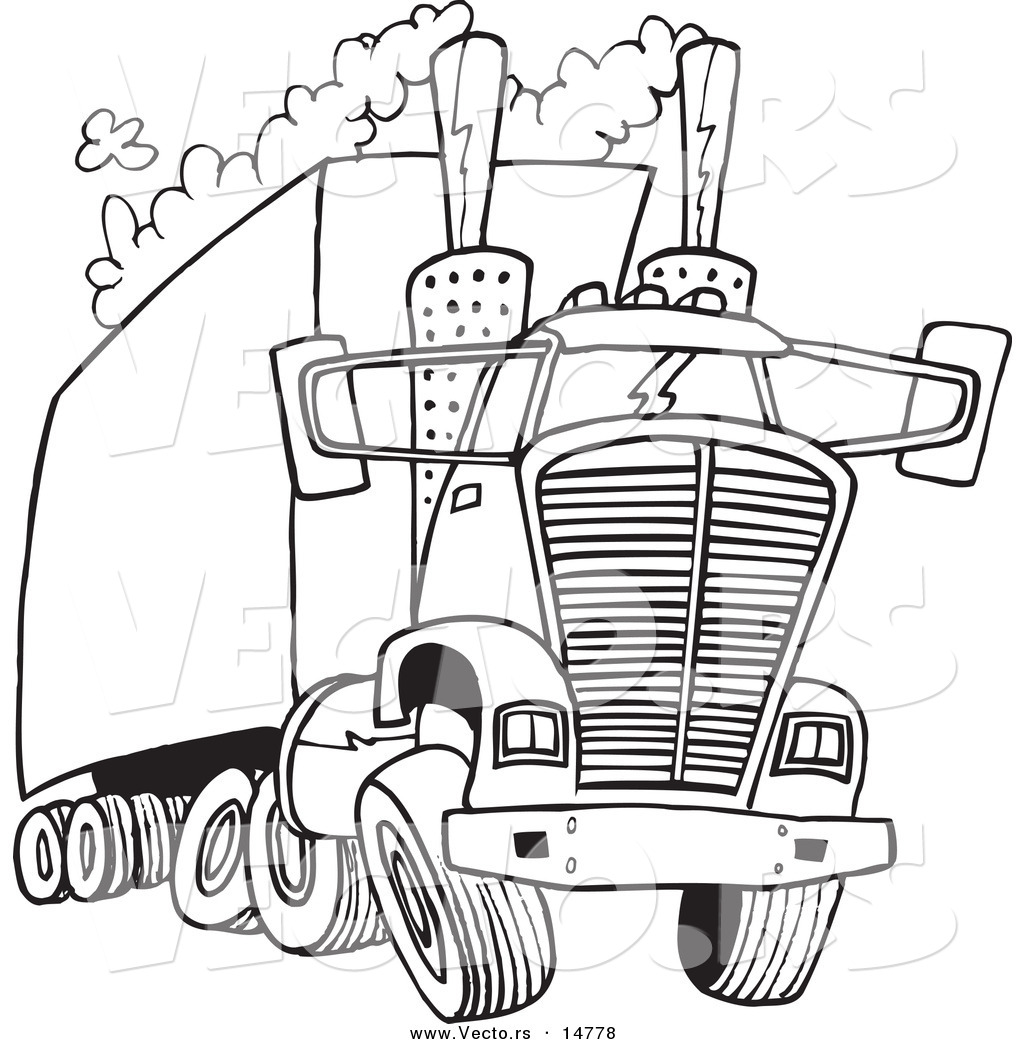 Truck Outline Drawing At Getdrawings Com Free For Personal Use