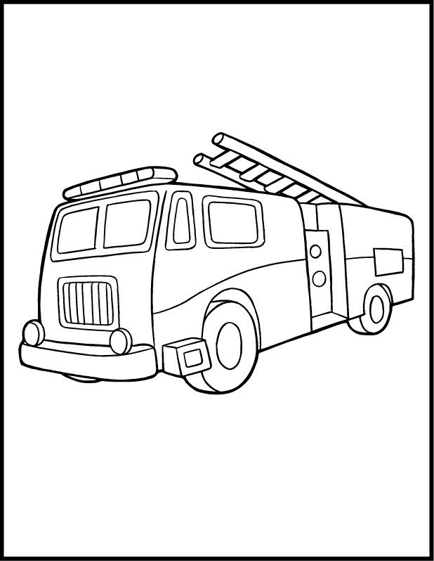 618x798 Coloring Pages Fire Truck Firetruck Party Fire