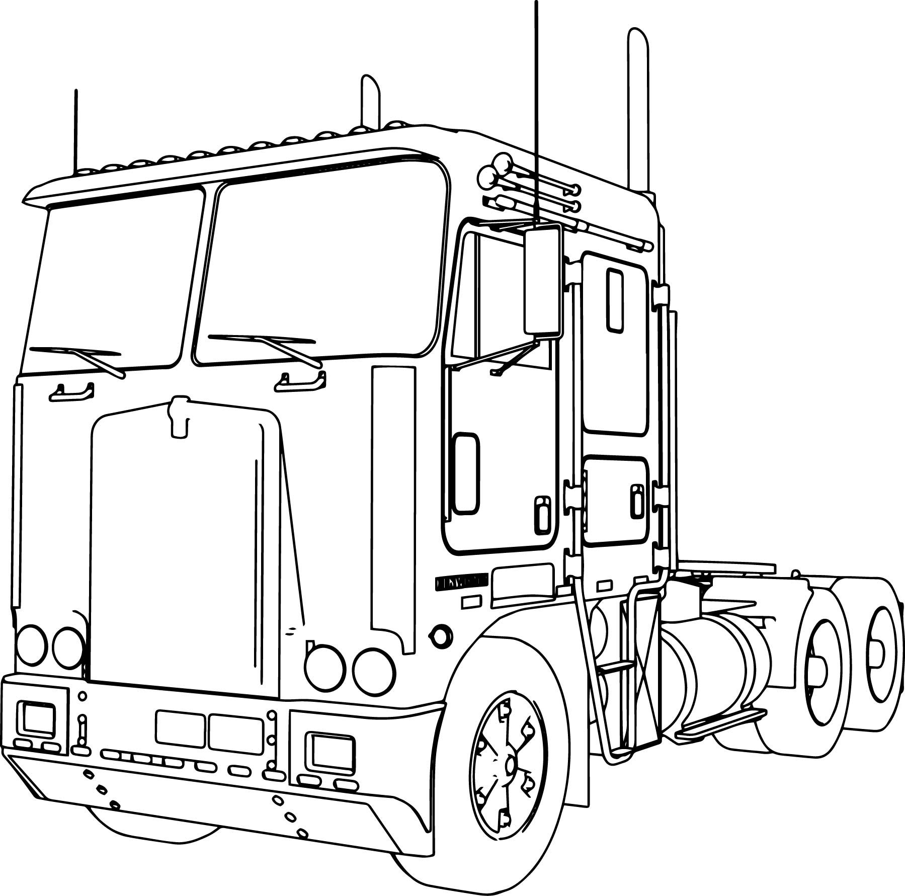 1799x1781 Coloring Pages Trucks Coloring Pages For Kids Online Preschool