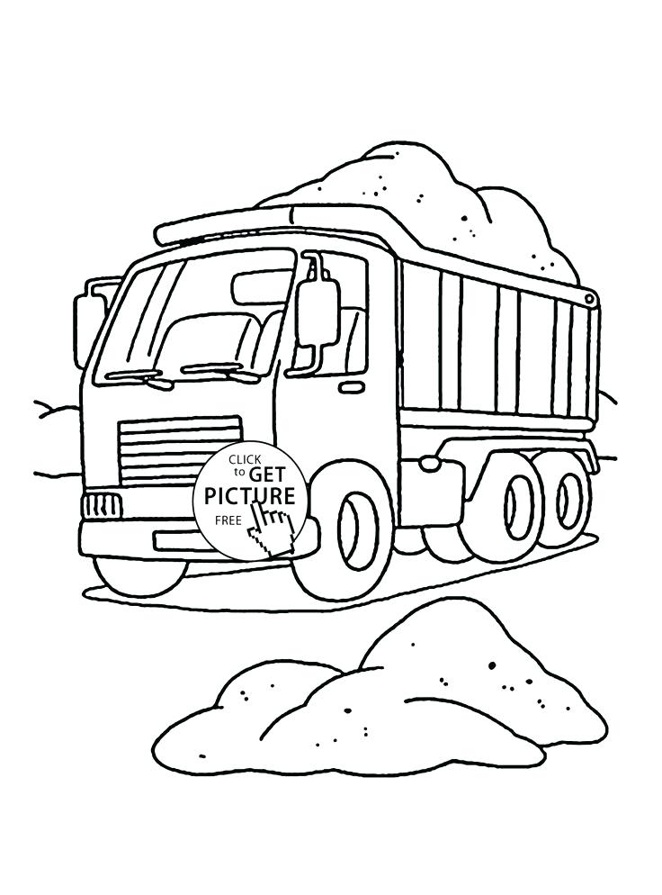 736x994 Dump Truck Coloring Coloring Pages Garbage Truck Free Download