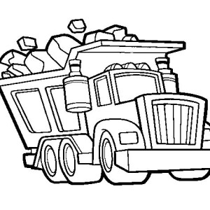 300x300 Dump Truck Coloring Pages