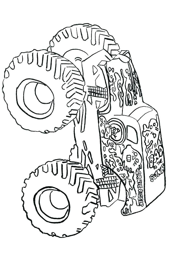 736x1012 Monster Jam Coloring Pages For Kids Drawing Monster Jam Truck