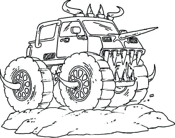600x473 Monster Trucks Coloring Pages Kids Monster Truck Coloring Pages