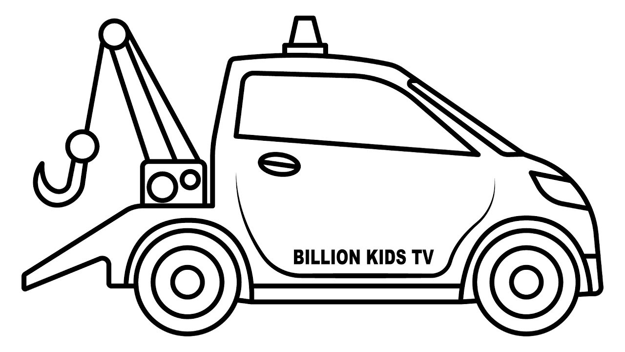 1280x720 Small Car Carrier Truck Coloring Pages, Colors For Kids Vehicles