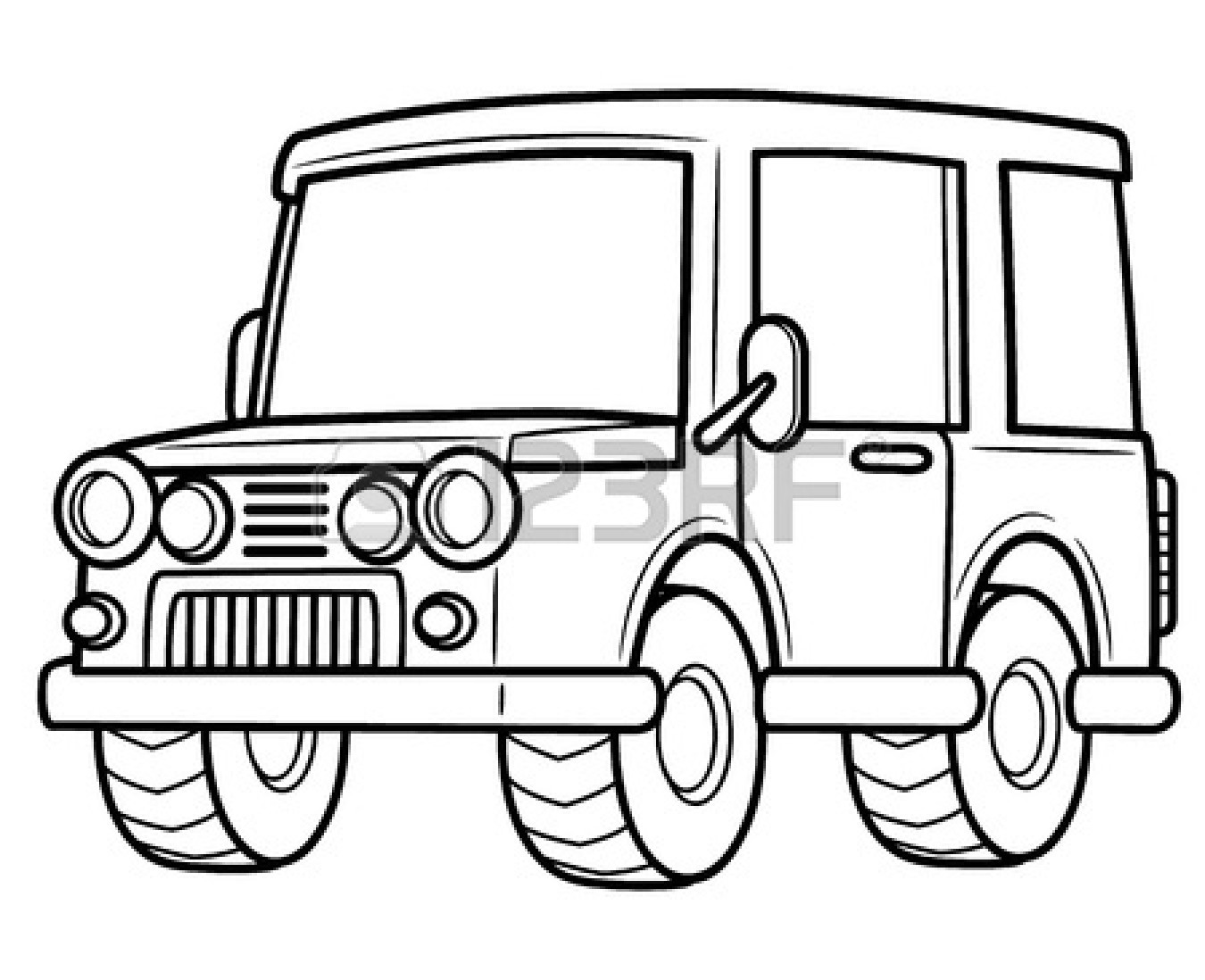 1350x1098 Truck Clipart Line Drawing