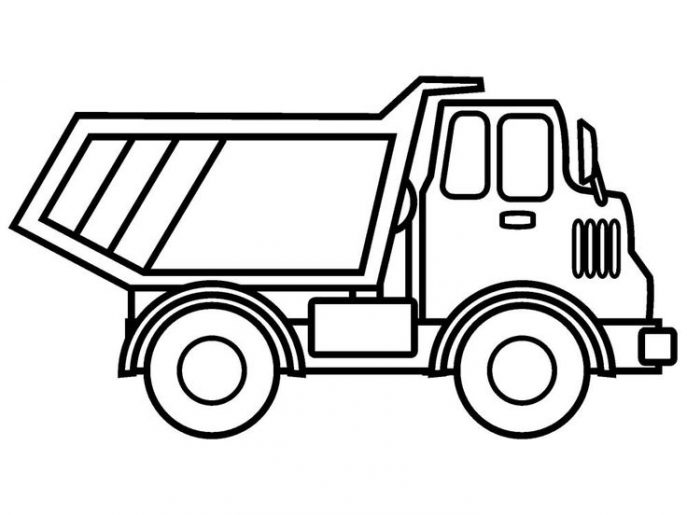 687x515 Coloring Pages Truck Coloring Pages Paw Patrol Marshall