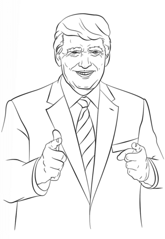 333x480 Donald Trump Coloring Page Politics Category. Select