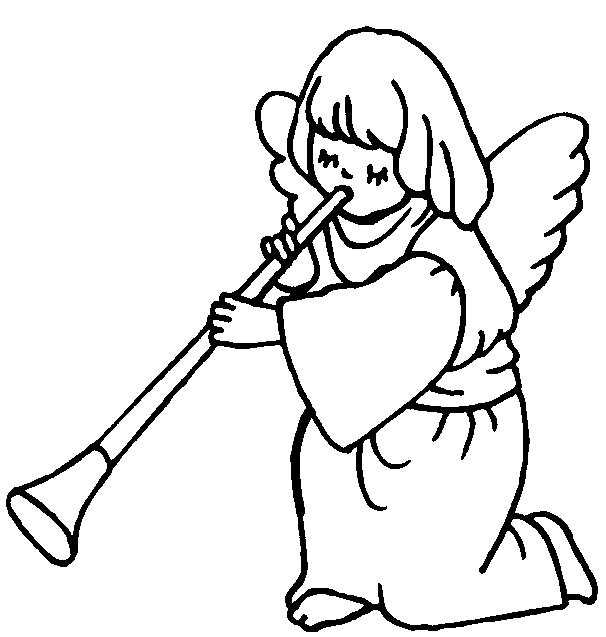 606x637 Christmas Angel Coloring Pages Angel Coloring Page Angel
