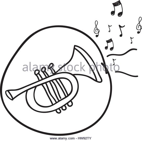 543x540 Drawn Trumpet Stock Photos Amp Drawn Trumpet Stock Images