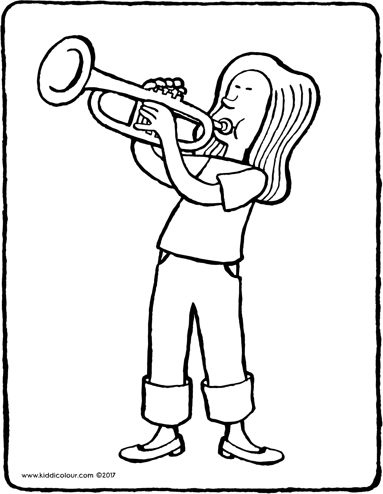 1240x1600 Girl Playing Trumpet