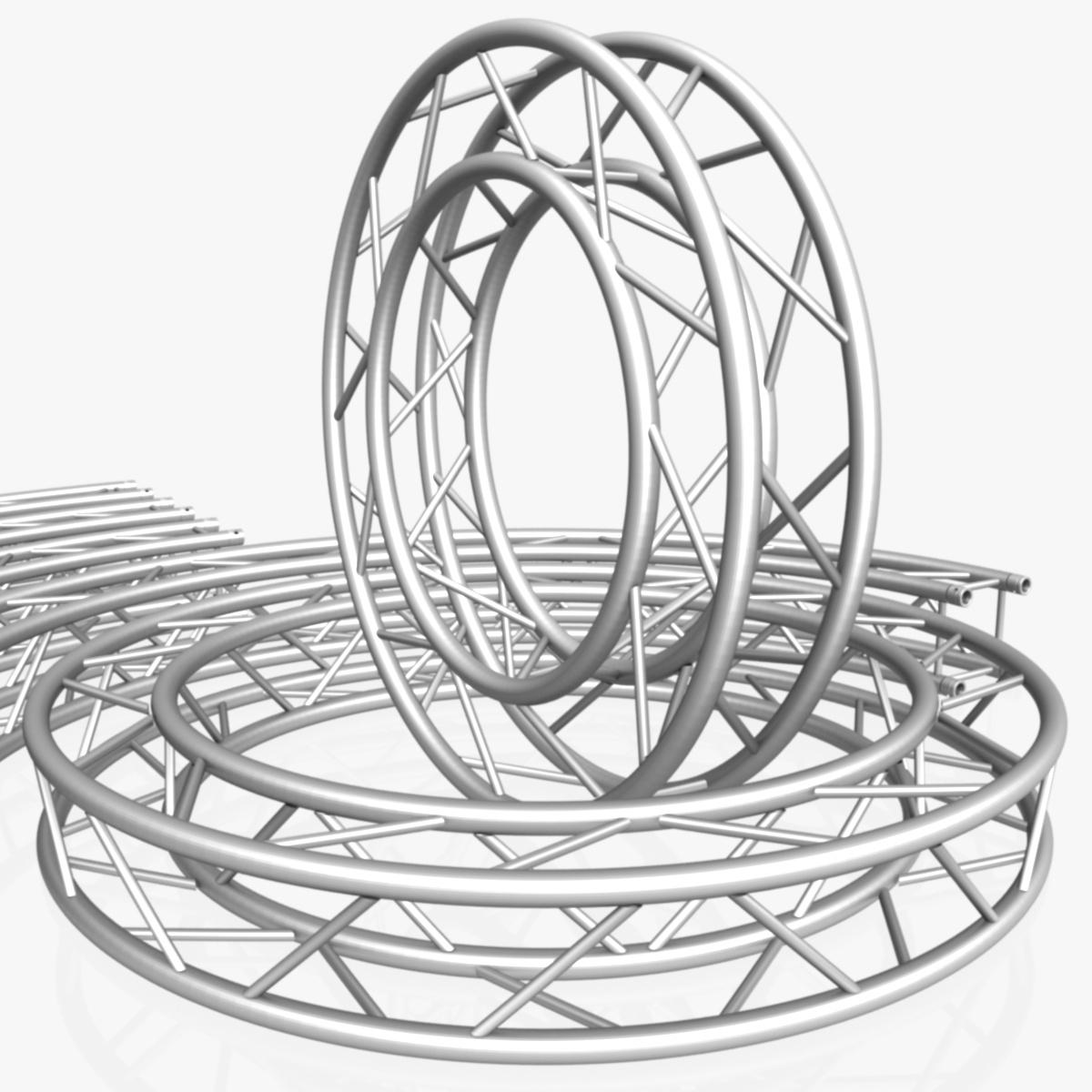 1200x1200 Circle Square Truss Modular Collection 3d Model Architecture 3d