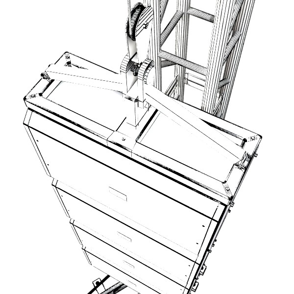 600x600 3d Model Stage Speaker Truss High Detail 3d Model Architecture 3d