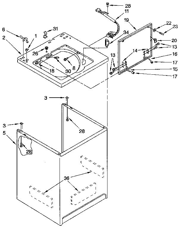 608x767 Kitchenaid Washer Parts Model Kawe560wal3 Sears Partsdirect