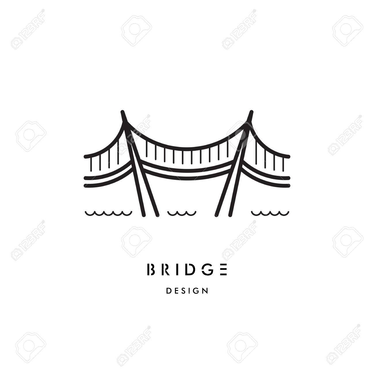 1300x1300 A Logo With A Picture Of A Suspension Bridge On Steel Ropes