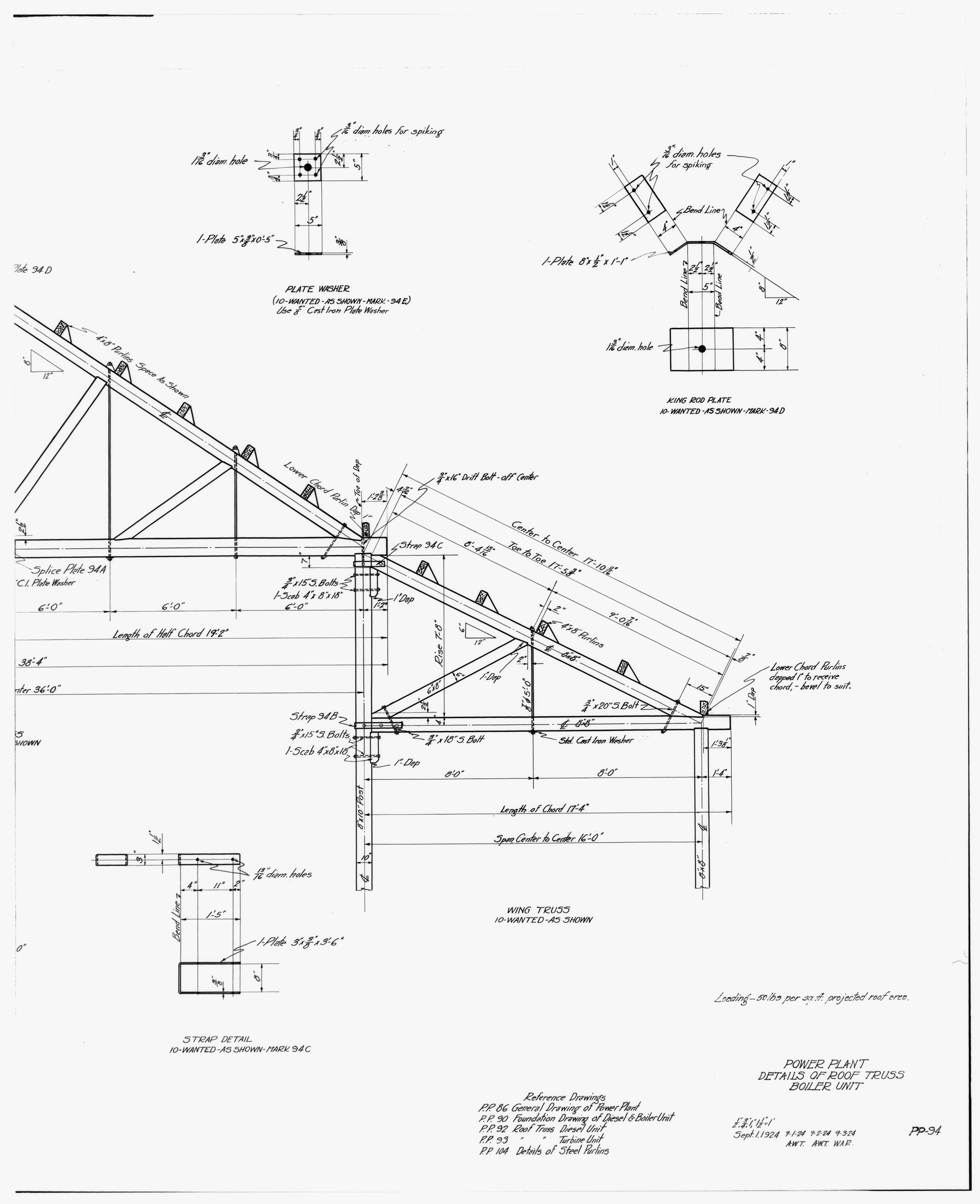 3949x4851 File30. Photocopy Of Drawing Of Power Plant, Details Of Roof