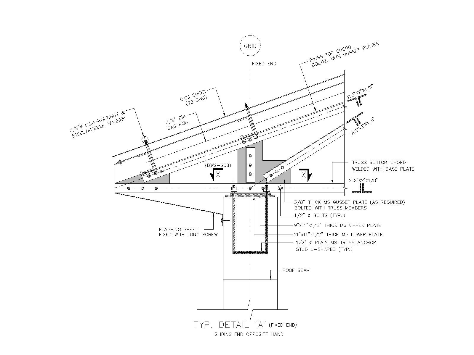 1600x1200 Roof Truss End Support Details