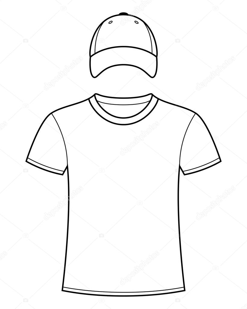 819x1024 Blank T Shirt And Cap Template Stock Vector Nikolae