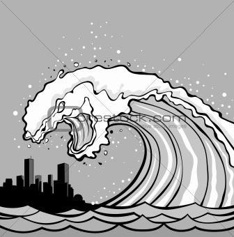 336x340 Image 3763076 Tsunami Monster From Crestock Stock Photos