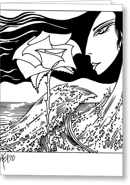 455x646 Tsunami Rose Drawing By Roy Guzman