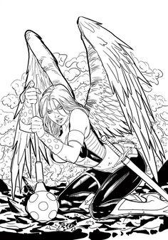 236x337 Hawkgirl By Fredbenes Inks By Brad Eastburn By Eastphoto99 Adult