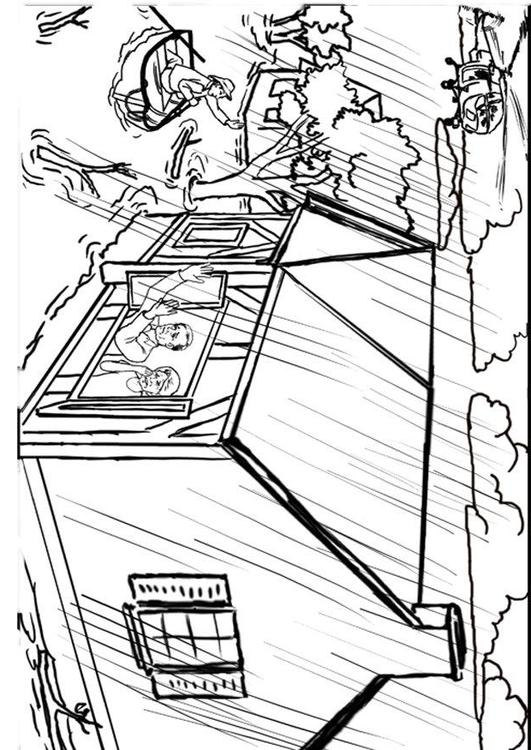 531x750 Coloring Page Flood