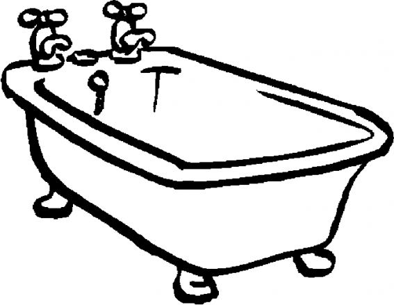 coloring pages bathtubs - photo#18