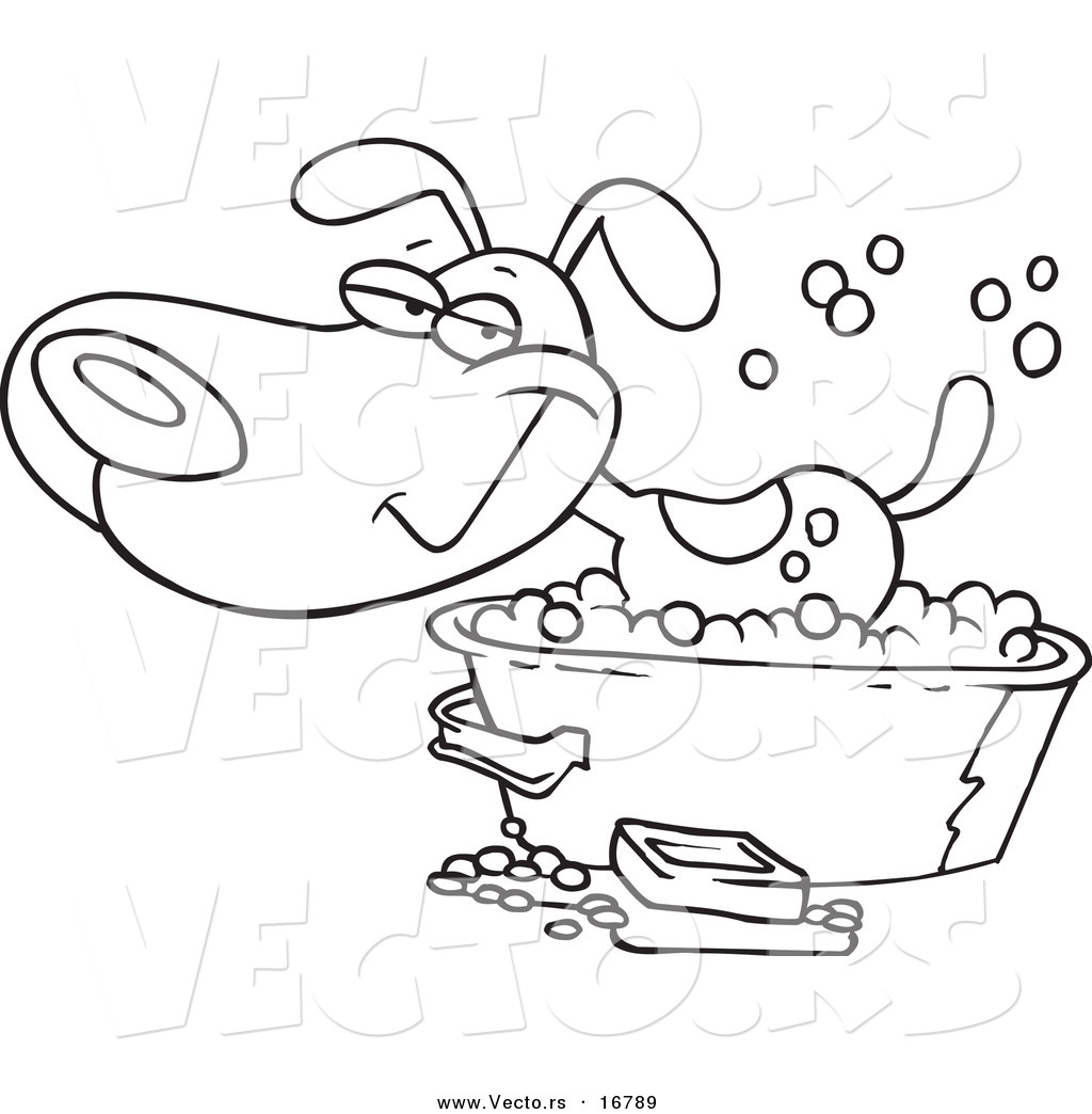 shower tub clipart. 1024x1044 Vector Of A Cartoon Happy Dog Bathing In Tub Shower Clipart