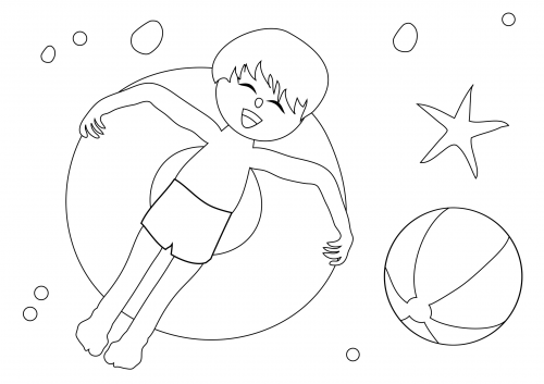 500x353 Summer Coloring Pages Tubing