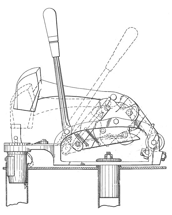 550x687 The Patent Drawing For The Morris Hand Powered Tilt Hammer Used