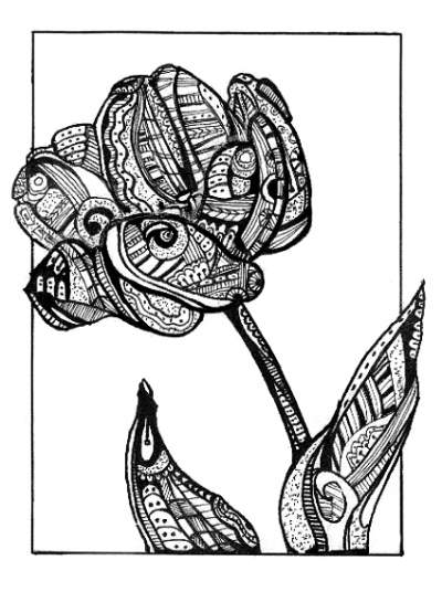 400x536 Abstract Tulip Teen Pen Amp Ink About Abstract, Nature, Abstract