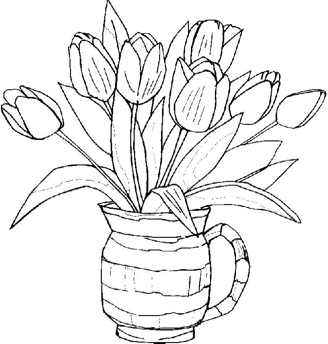 670x703 This Is Tulip Coloring Pages Pictures Tulips Coloring Pages Group
