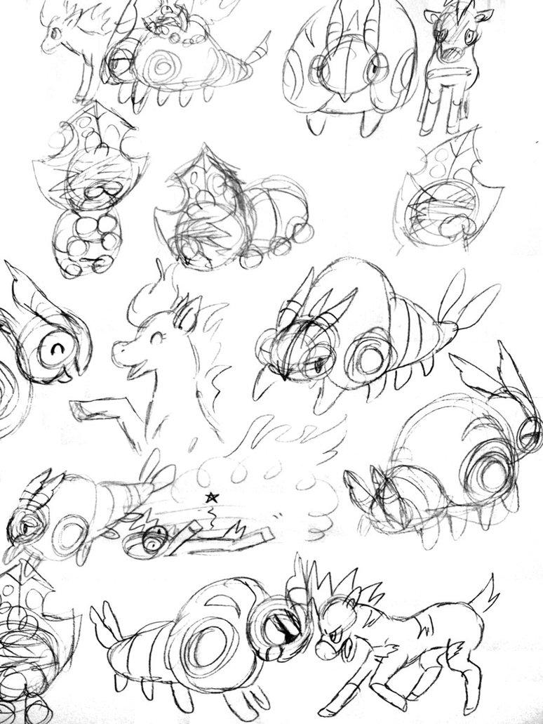 774x1031 Tumbleweed Pyroshock Sketches By Trinosaur