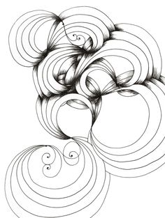 236x313 Zentangle, Curves, Zen, Easy, Illustration, Markers, Black