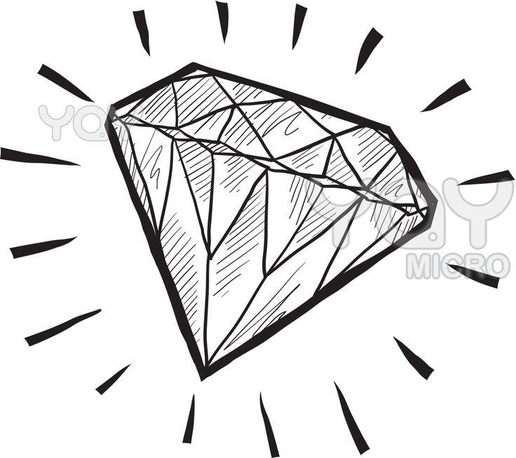 736x653 Drawn Diamond Transparent Tumblr