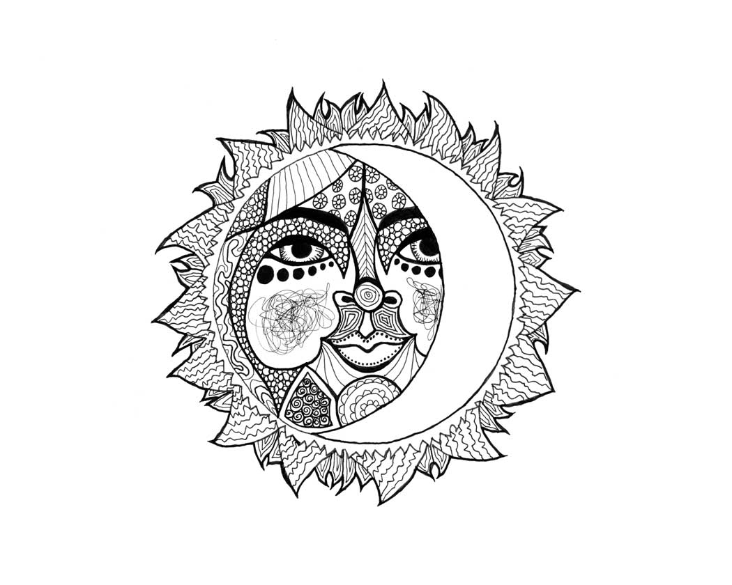 1050x840 Daily Art Drawing Of A Celestial Sun