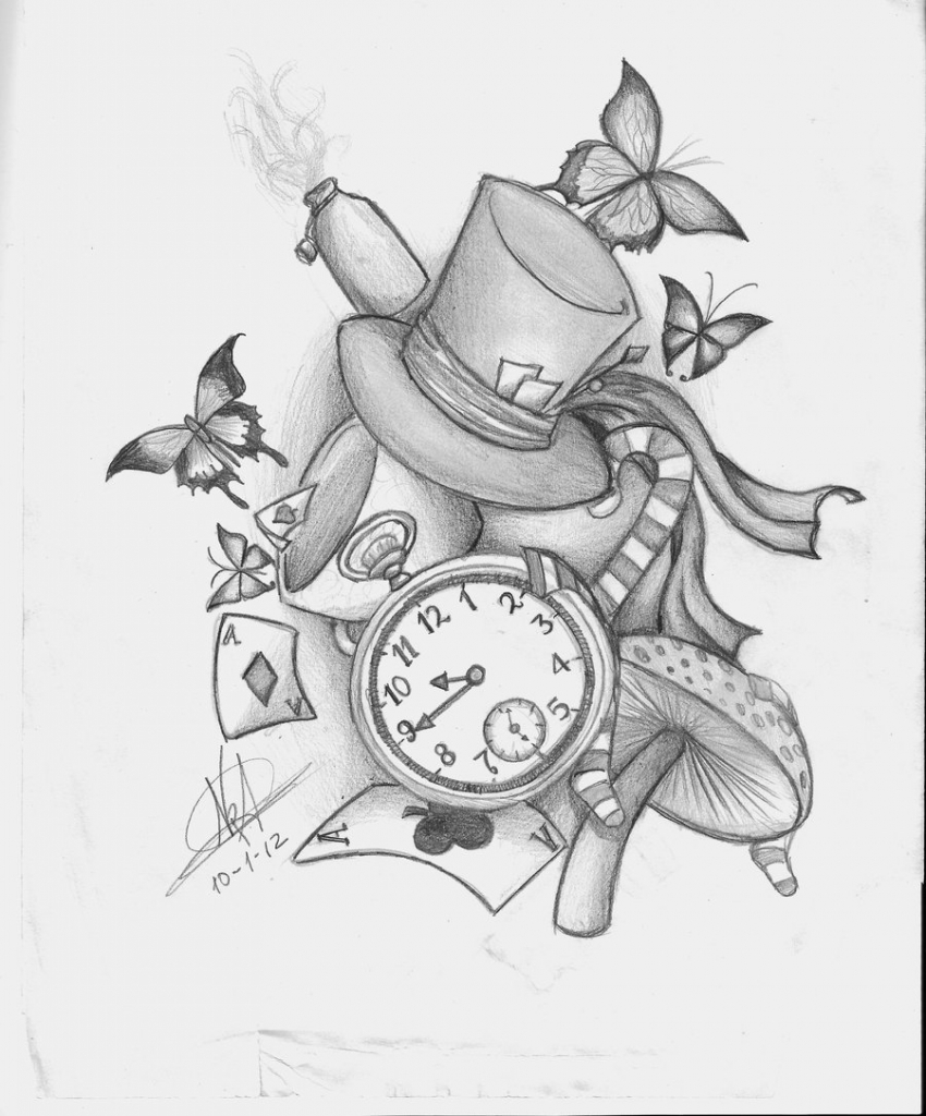 850x1024 Alice In Wonderland Drawing Alice In Wonderland Tumblr Drawing