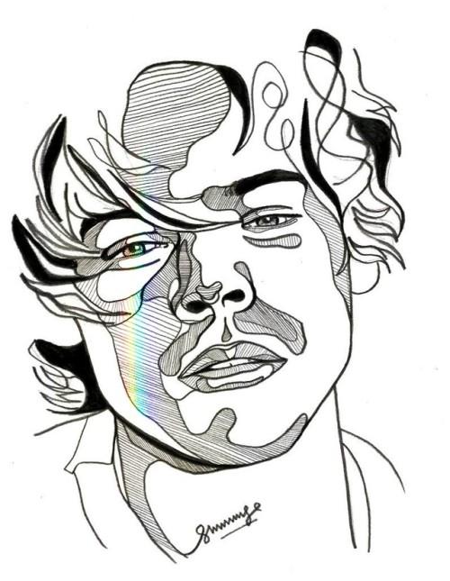 500x645 Harry Styles Sketches Tumblr